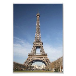 Impresión de la torre Eiffel Fotografias