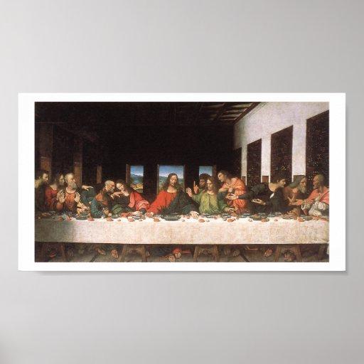 Impresión de la última cena de Leonardo DA Vinci-T Posters