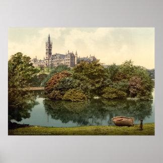 Impresión de la universidad de Glasgow Poster