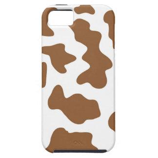 Impresión de la vaca de Brown iPhone 5 Funda