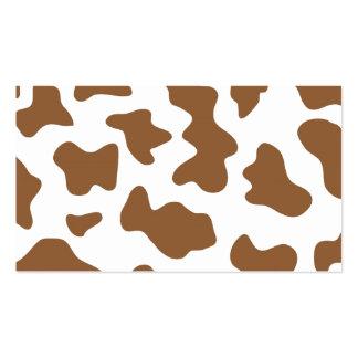 Impresión de la vaca de Brown Tarjetas De Visita