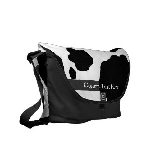 Impresión de la vaca de la diversión personalizada bolsas de mensajería