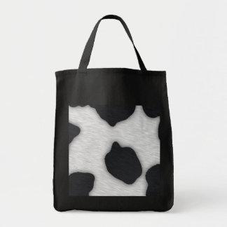 Impresión de la vaca lechera bolsa tela para la compra