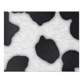 Impresión de la vaca lechera cojinete