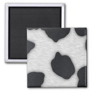 Impresión de la vaca lechera imán cuadrado