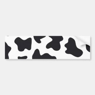 Impresión de la vaca pegatina para auto