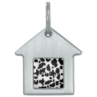 Impresión de la vaca placas de mascota