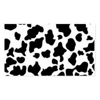 Impresión de la vaca tarjetas de visita