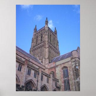 Impresión de la ventana de la catedral de Worceste Posters