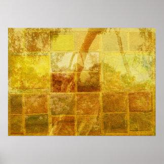 Impresión de la ventana del remiendo poster