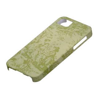 Impresión de la verde salvia de Toile del francés iPhone 5 Case-Mate Funda