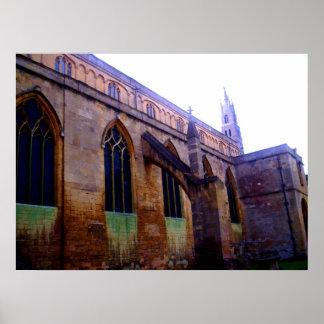 Impresión de la vista lateral de la abadía de Tewk Posters