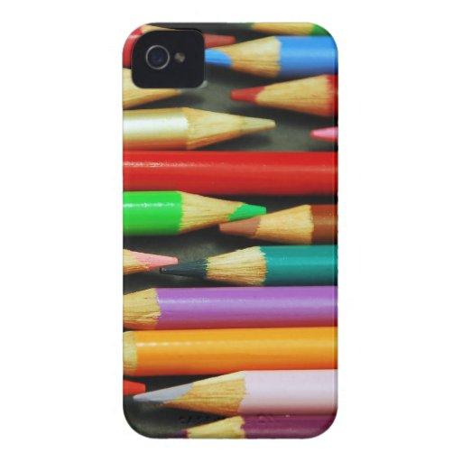 Impresión de lápices coloridos iPhone 4 Case-Mate cobertura