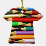 Impresión de lápices coloridos ornato
