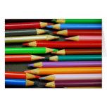 Impresión de lápices coloridos tarjetas