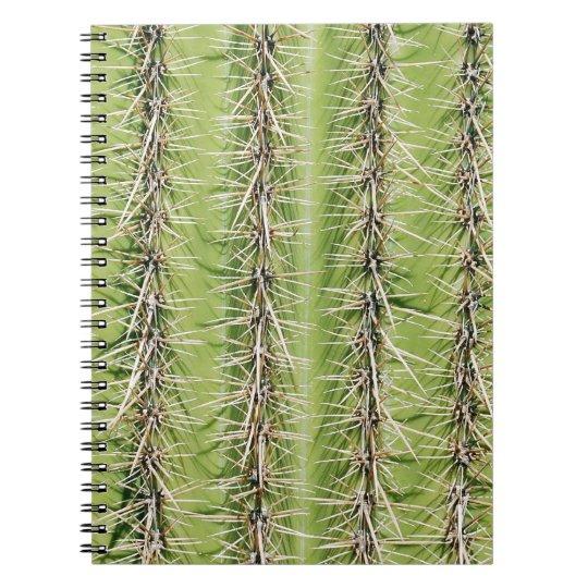 Impresión de las agujas del cactus del Saguaro Spiral Notebooks