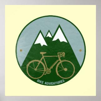 impresión de las aventuras de la bici para las posters