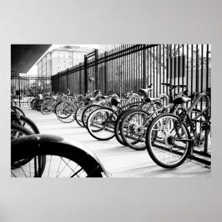Impresión de las bicicletas póster