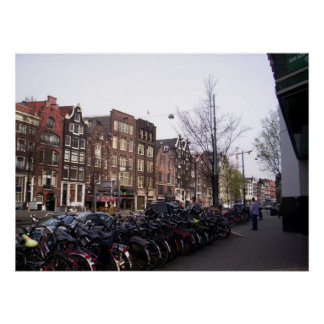 Impresión de las bicis de Amsterdam Poster