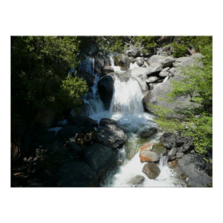 Impresión de las caídas de la cascada poster