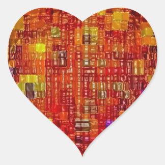 Impresión de las camisetas de las tarjetas de los pegatina corazón