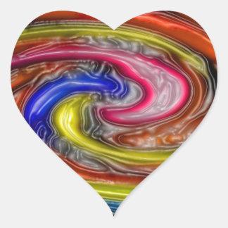 Impresión de las camisetas de las tarjetas de los pegatina de corazon personalizadas