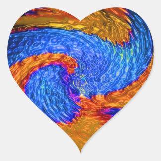 Impresión de las camisetas de las tarjetas de los pegatinas de corazon personalizadas