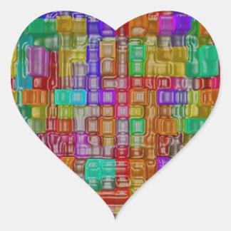Impresión de las camisetas de las tarjetas de los pegatina corazon personalizadas