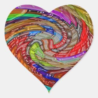 Impresión de las camisetas de las tarjetas de los calcomanías de corazones