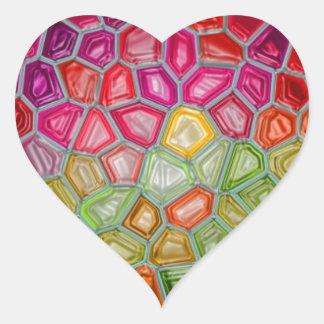 Impresión de las camisetas de las tarjetas de los calcomanías corazones