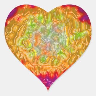 Impresión de las camisetas de las tarjetas de los calcomanía corazón