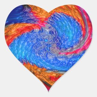 Impresión de las camisetas de las tarjetas de los pegatina de corazón