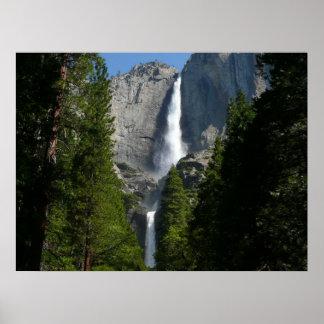 Impresión de las cataratas de Yosemite II Póster