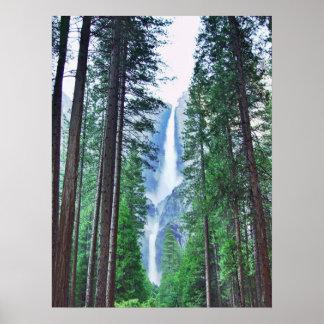 Impresión de las cataratas de Yosemite Poster