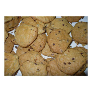 Impresión de las galletas de harina de avena del m poster