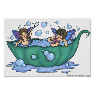 Impresión de las hadas de Bathtime Póster