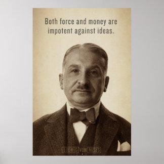 Impresión de las ideas de Ludwig von Mises Poster