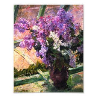 Impresión de las lilas de Mary Cassatt Fotografías
