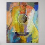 Impresión de las melodías de la guitarra
