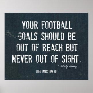 Impresión de las metas del fútbol en dril de algod póster