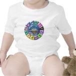 Impresión de las muestras del zodiaco trajes de bebé