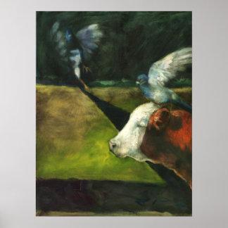 Impresión de las palomas de Hereford Posters