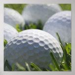 Impresión de las pelotas de golf posters
