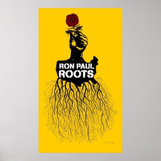 Impresión de las raíces de Ron Paul