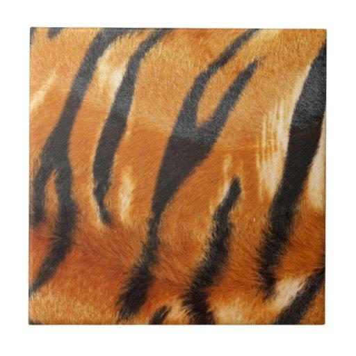 Impresión de las rayas del tigre del safari teja cerámica