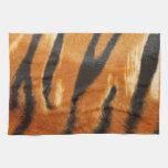 Impresión de las rayas del tigre del safari toallas de cocina
