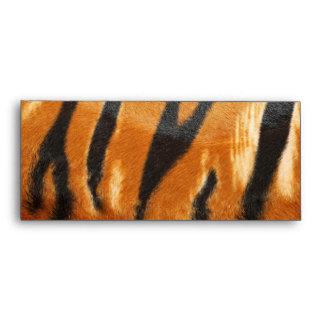 Impresión de las rayas del tigre del safari sobre