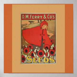 Impresión de las semillas del transbordador póster