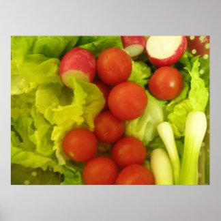 Impresión de las verduras de ensalada impresiones