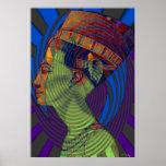 Impresión de las vibraciones de Nefertiti nueva Posters